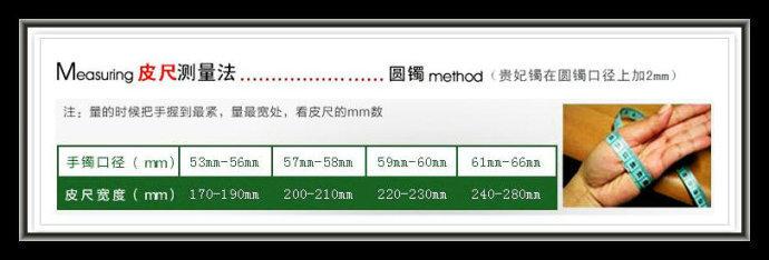 翡翠皮尺测量法
